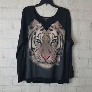 Living Doll | Tiger Face Long Sleeve Tee